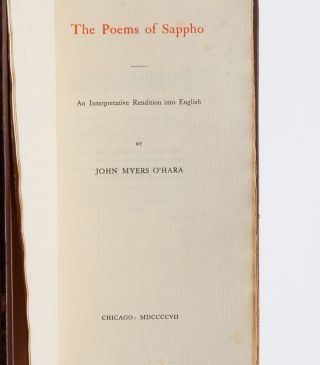The Poems of Sappho: An Interpretive Rendition into English
