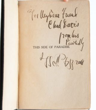 Image 3 of 7 for This Side of Paradise (Inscribed First Edition