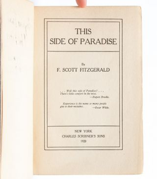 Image 5 of 7 for This Side of Paradise (Inscribed First Edition