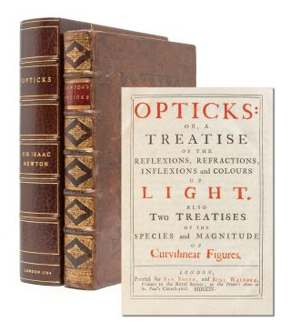 Image 1 of 8 for Opticks: or, a Treatise of the Reflexions, Refractions, Inflexions and Colours...