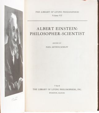 Albert Einstein: Philosopher-Scientist Edited by Paul Arthur Schilpp