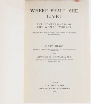 Image 4 of 6 for Where Shall She Live? The Homelessness of the Woman Worker