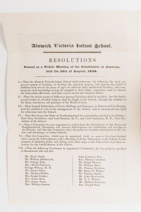 Image 1 of 5 for Resolutions Passed at a Public Meeting of the Inhabitants of Alnwick, held the...