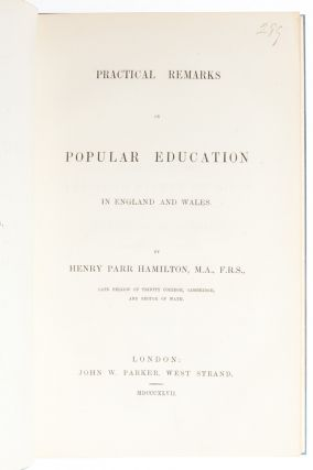 Image 1 of 6 for Practical Remarks on Popular Education in England and Wales