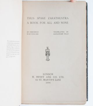 Image 5 of 7 for Thus Spake Zarathustra A Book for All and None
