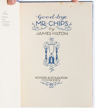 Goodbye Mr. Chips! (Signed First Edition)
