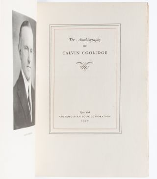 The Autobiography of Calvin Coolidge (Signed Ltd. Edition)