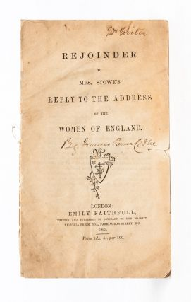 Image 1 of 5 for Rejoinder to Mrs. Stowe's Reply to the Address of the Women of England