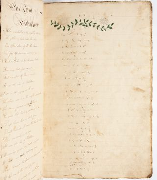 Woman's poetic copybook containing original and copied verse