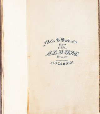 """Album from a Friend"" -- 19th century commonplace book documenting women's literary interests"