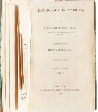 Democracy in America. Part the First