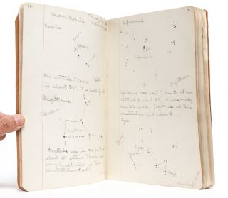 Astronomy I notebook of a young woman in school