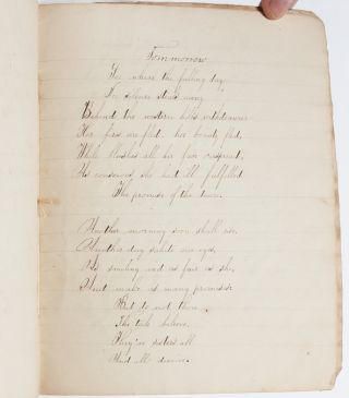 Selection of lyric poems copied out by an educated woman, including work by Bluestocking Anna Laetitia Barbauld