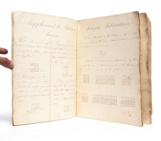 Image 4 of 6 for Mathematics notebook of a 19th century woman