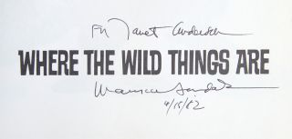 Image 2 of 2 for Where the Wild Things Are (Inscribed First Edition