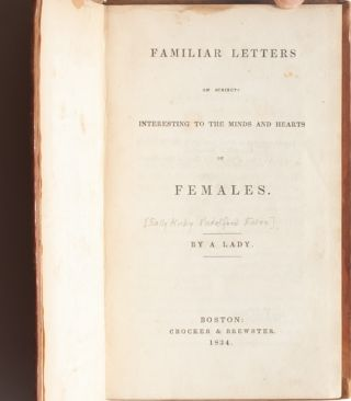 Image 4 of 7 for Familiar Letters on Subjects Interesting to the Minds and Hearts of Females