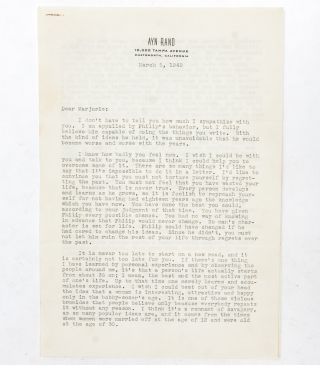 Image 1 of 4 for Typed letter signed giving a friend advice on her novel and discussing The...