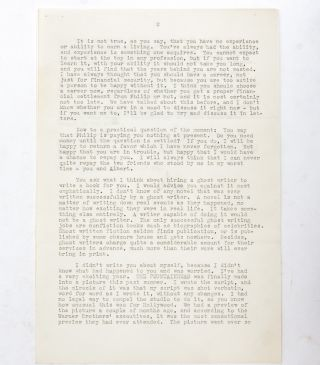 Image 2 of 4 for Typed letter signed giving a friend advice on her novel and discussing The...