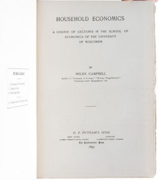 Household Economics: A Course of Lectures in the School of Economics at the University of Wisconsin