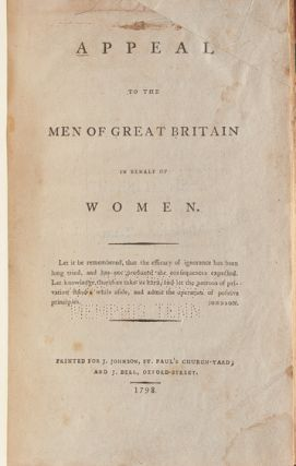 Appeal to the Men of Great Britain in Behalf of Women