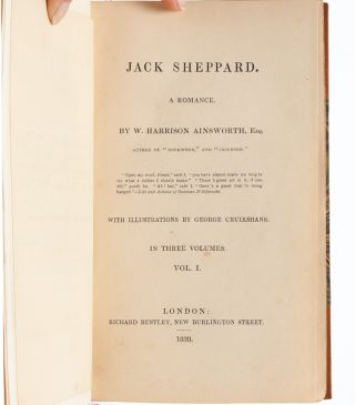 Image 6 of 9 for Jack Sheppard. A Romance (in 3 vols.) [with original Cruikshank illustration and...