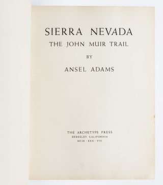Sierra Nevada: The John Muir Trail (Signed Ltd.)
