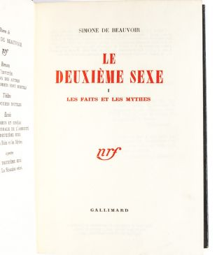 Image 3 of 8 for Le Deuxieme Sexe (in 2 vols