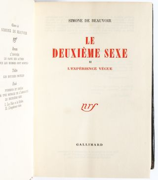 Image 6 of 8 for Le Deuxieme Sexe (in 2 vols