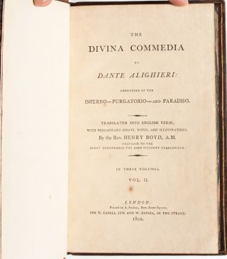 Image 6 of 9 for The Divina Commedia of Dante Alighieri, Consisting of the Inferno - Purgatorio -...