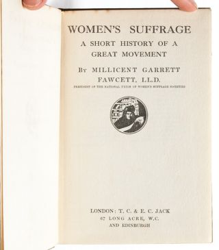 Women's Suffrage. A Short History of a Great Movement