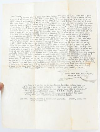 Image 1 of 2 for Typed Letter Signed while in Mexico visiting exiled fellow Beat writer William...