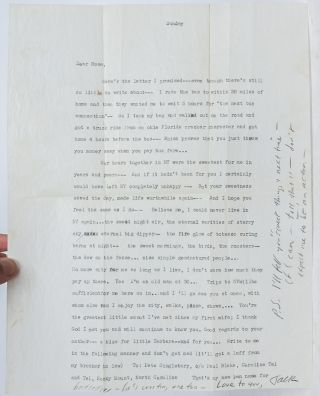 Image 1 of 1 for Typed Letter Signed on his return home from visiting William S. Burroughs in...
