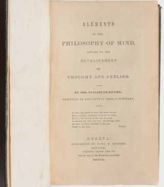 Elements of the Philosophy of Mind, Applied to the Developement of Thought and Feeling