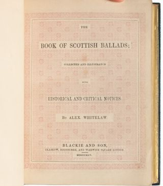 Image 7 of 8 for The Book of Scottish Ballads Collected and Illustrated with Historical and...