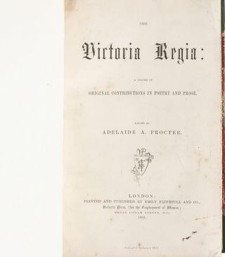 Victoria Regia. A volume of original contributions in poetry and prose