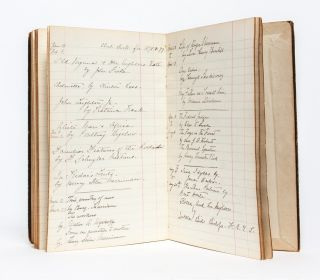 Manuscript notebook of a Greenwich Village woman, documenting her reading, study, and travels