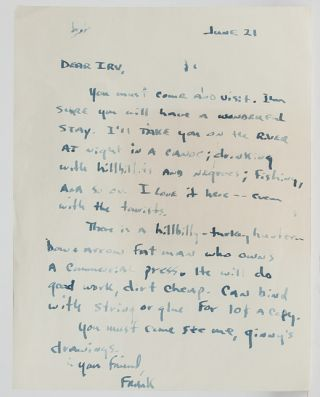 Image 1 of 1 for Autograph letter signed by Stanford to his publisher urging him to visit