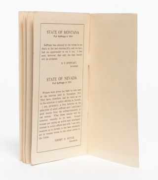 Testimony of Governors Concerning Woman Suffrage in Their Respective States