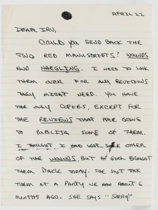Image 1 of 3 for Autograph Letter Signed to his publisher regarding his writing process,...