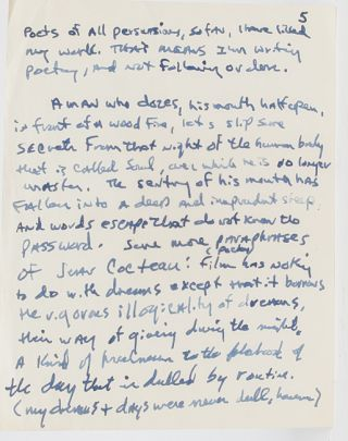 Lengthy Autograph Letter Signed, including his thoughts on the state of American poetry and its critics