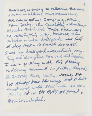 Image 4 of 8 for Lengthy Autograph Letter Signed, including his thoughts on the state of American...