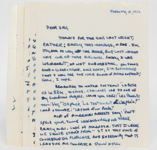 Image 8 of 8 for Lengthy Autograph Letter Signed, including his thoughts on the state of American...
