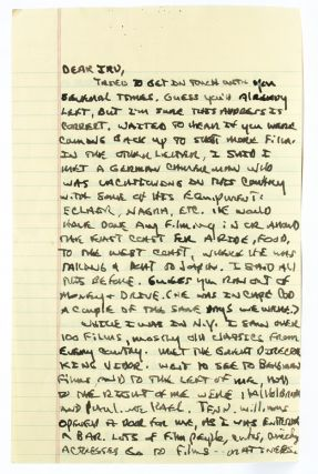 Image 1 of 3 for Autograph letter signed to his publisher documenting his travel in New York...