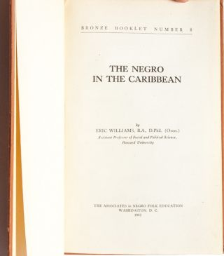 The Negro in the Caribbean (Presentation Copy)