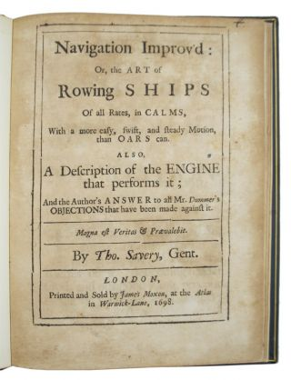 Image 1 of 3 for Navigation improv'd: or, the art of rowing ships of all rates, in calms,...