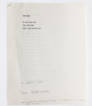 Image 1 of 4 for Original working copy of his abandoned Mariana poems