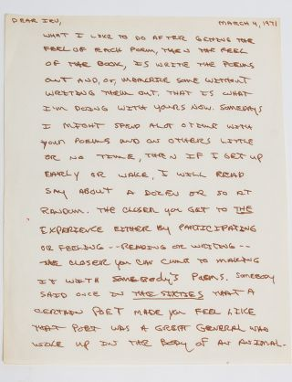 Image 4 of 6 for The largest known collection of Frank Stanford letters, with content on his...