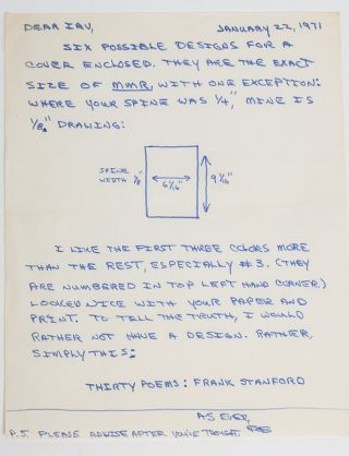 Image 5 of 6 for The largest known collection of Frank Stanford letters, with content on his...