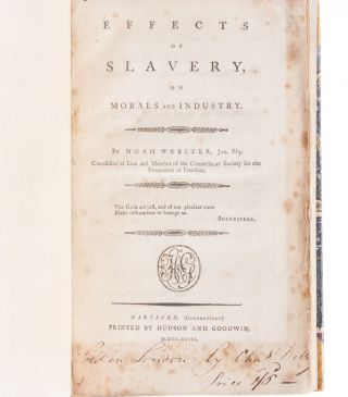 Effects of Slavery on Morals and Industry