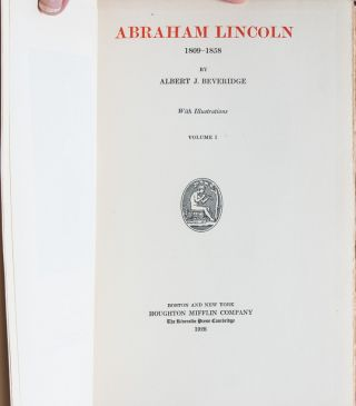 Image 8 of 9 for Abraham Lincoln, 1809-1858 (Manuscript Edition in 4 vols